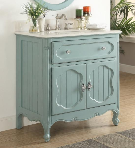Benton Collection Knoxville Blue Shabby Chic Home Bathroom Vanity Gd 1533bu 34 Ebay