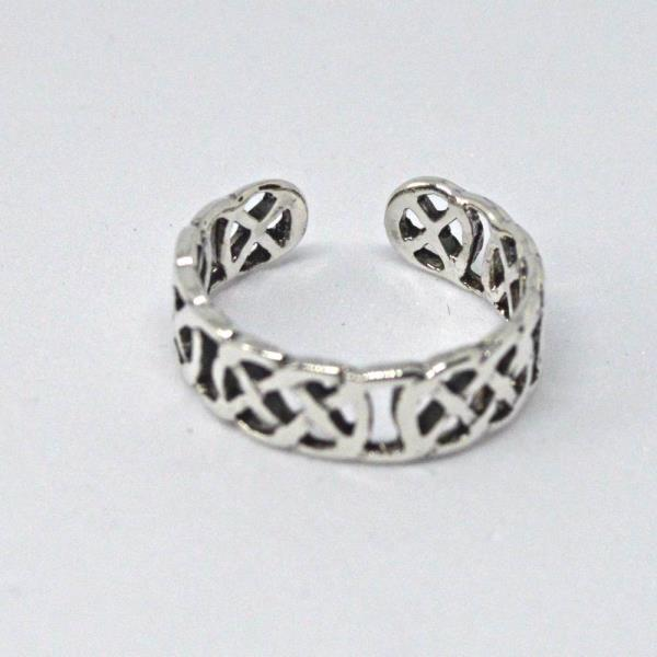 Sterling Silver Celtic Knot Design Adjustable Toe Ring~wicca~pagan~jewellery #1 Metaphysical