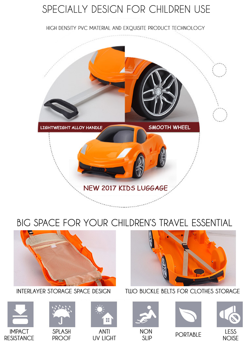 New Ride On Suitcase Toy Box Luggage Trolley Car Bag Case For