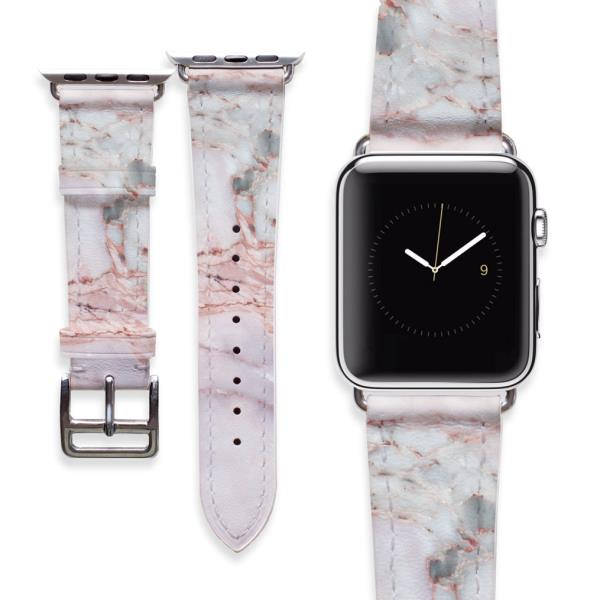 72545fffe Details about Apple Watch Pink Marble Bracelet iWatch Genuine Leather Strap  Smart Watch Band