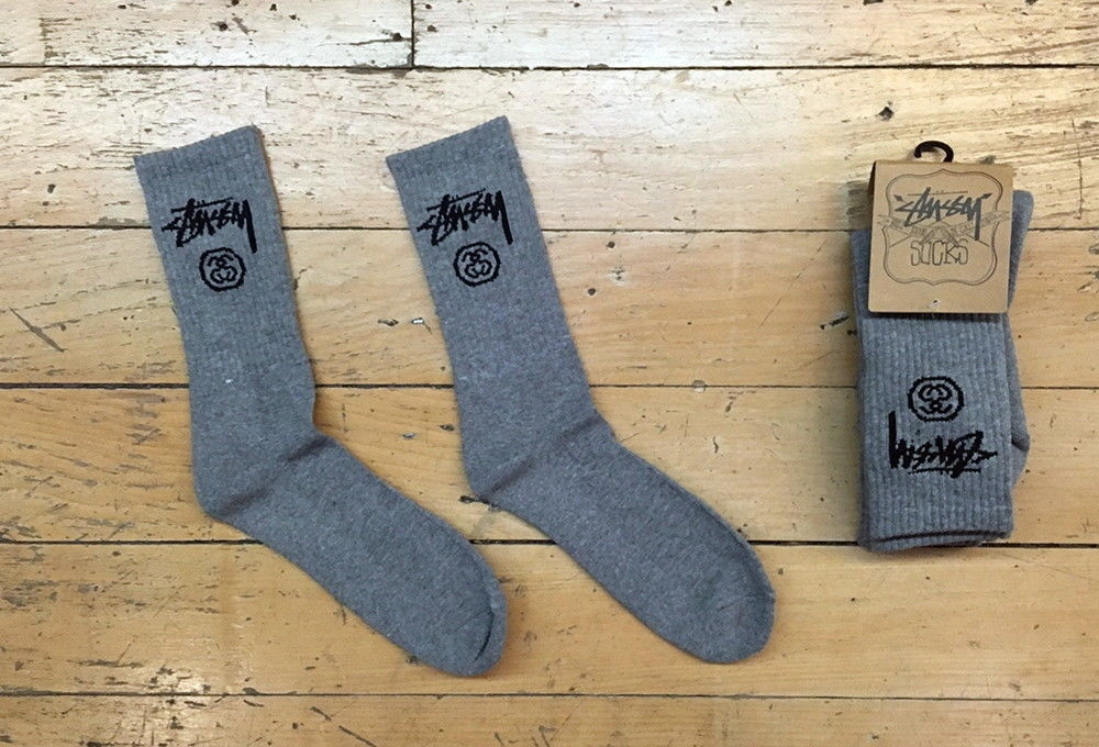 Stussy Socks Crew 3 Pack Grey Marle Size OSFM New Skateboard Sox