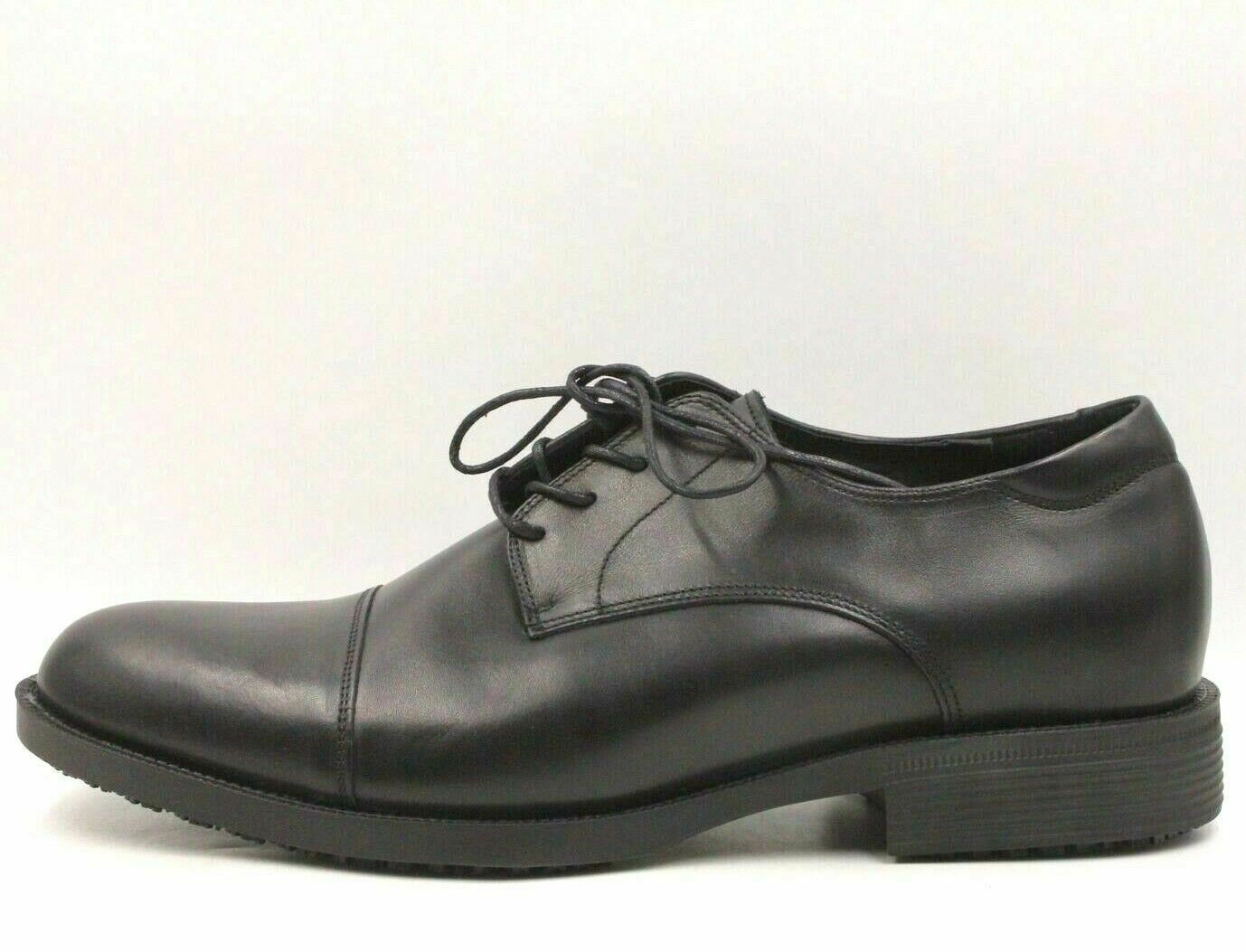 09a9c18efd7 SHOES FOR CREWS Senator Men Slip Oil Resistant Oxfords Size US 12 Black  Leather