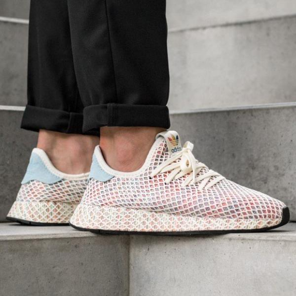 6ab67165cad649 Adidas Deerupt Pride Sneakers Cream White Size 8 9 10 11 12 Mens NMD Boost  New