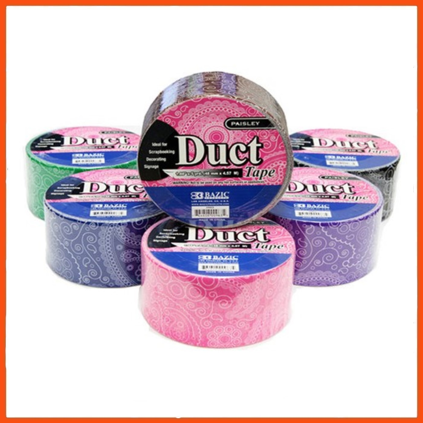 36 X Decorative Duct Tape Paisley Print 4 5mt Strong Seal