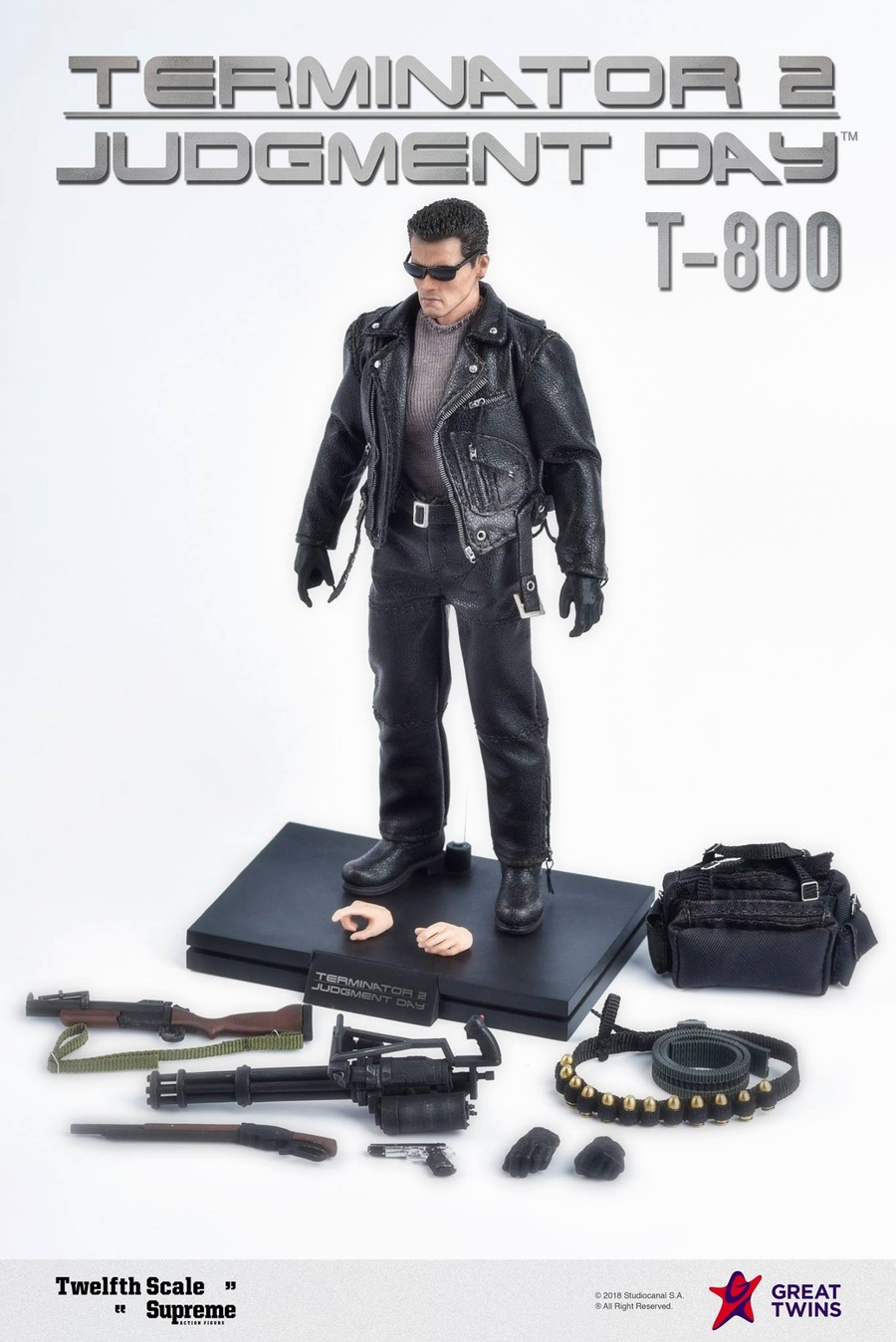 """1//6 Scale Male Leather T-800 Arnold Clothes For 12/"""" Action Figure Body Hot Toys"""
