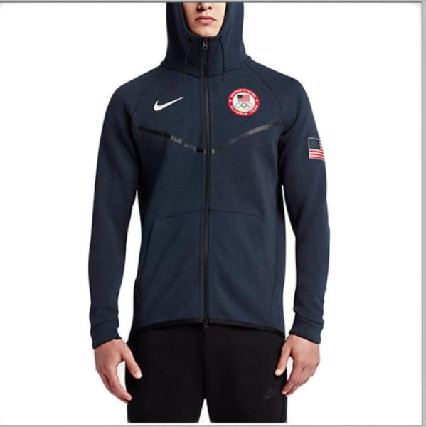 9a0b09889aad Details about Nike Tech Fleece Windrunner Team USA Jacket Olympics Size XL  807610-473