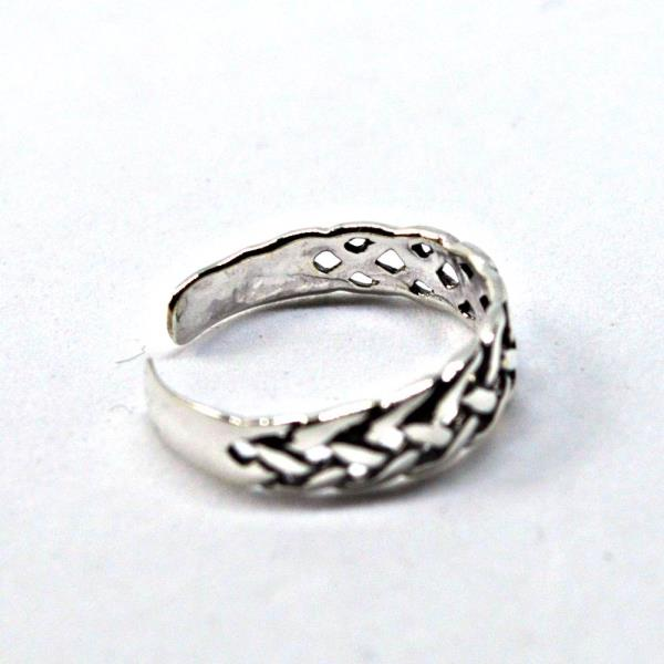Sterling Silver Celtic Knot Design Adjustable Toe Ring~wicca~pagan~jewellery #1 Jewelry & Watches