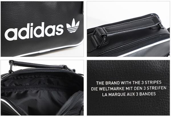 6eeffcad15 Adidas MINI Airline Vintage Cross Bags Black Running Casual GYM Bag ...