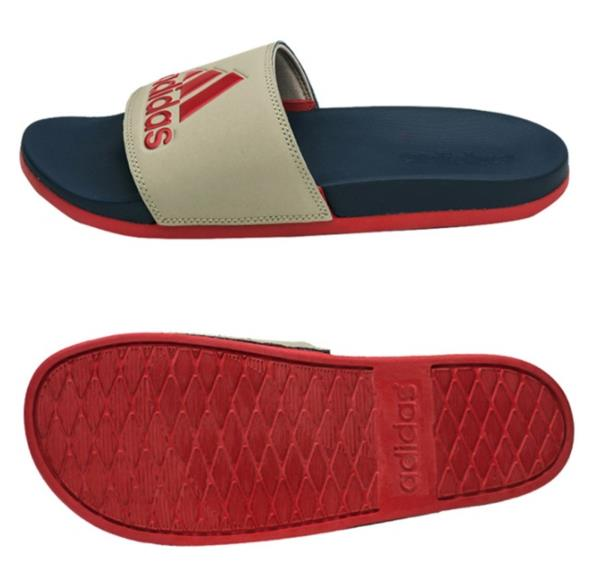 Adidas Slipper hombres adilette Confort Plus Slipper Adidas zapatos navy rojo Slide 55f344
