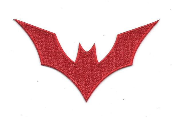 Dc Comics Batman Beyond Animated Show Red Bat Logo Embroidered Patch