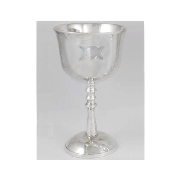 """Pentagram Engraved Silver Plated Chalice Wine Goblet Cup 5-3//4/"""" Wicca Pagan"""