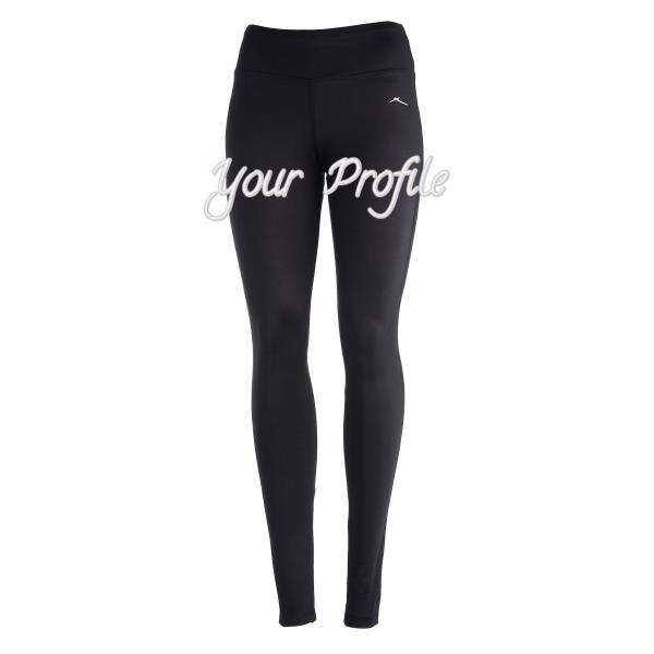 X by Gottex Black Wide Waistband Thick Skinny Legging