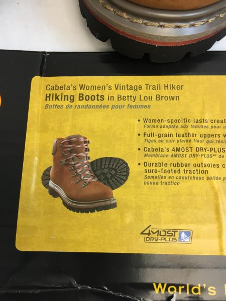 44be48956ab Details about Cabelas Womens Vintage Trail Hiking Boots Betty Lou Brown  Size 10 Model 84-3239