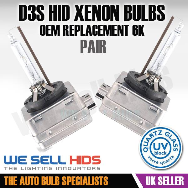 D3S 6000K HID Xenon Bulbs OEM Replacement HID Audi A4 B8 S