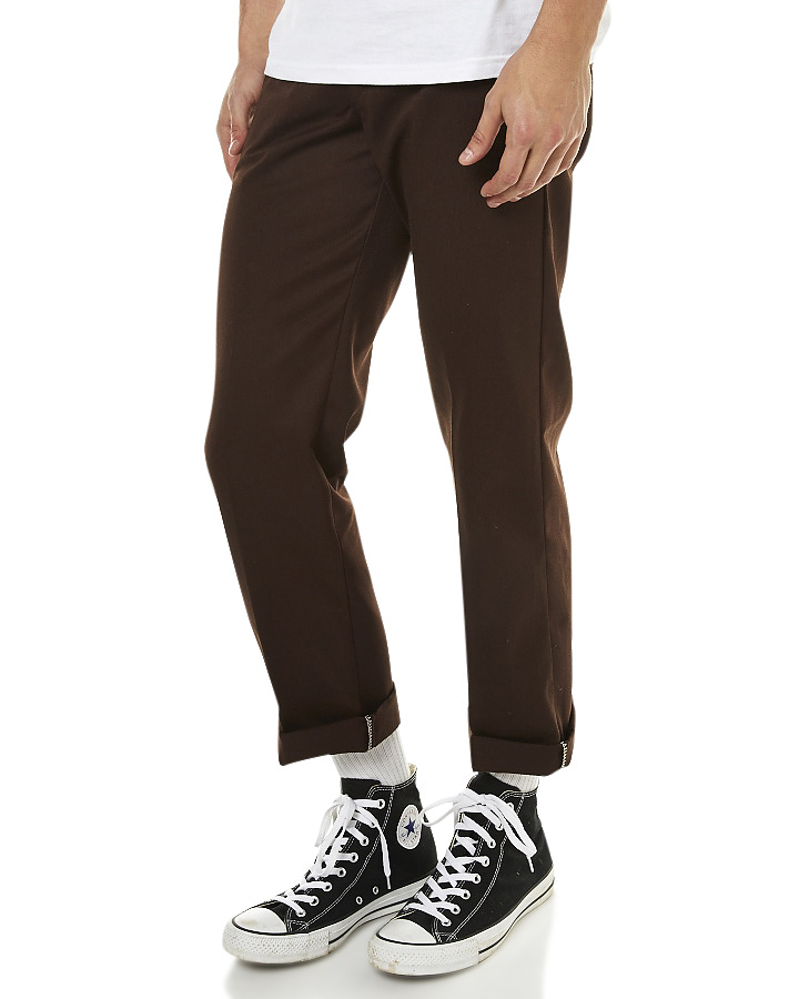 Dickies Slim Straight Fit Work Pants Chocolate WP873 New Skateboard Bmx Jeans free post