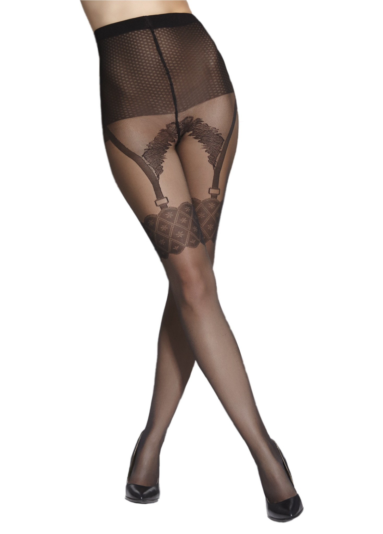 Charlotte Fancy Patterned Tights 20 Denier Adrian