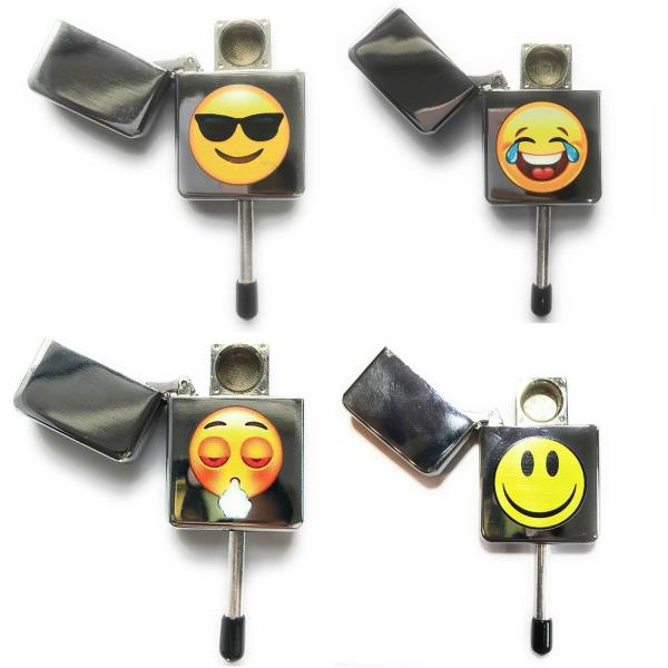 Details about Novelty Tobacco Smoking Pipe Emoji Face Discreet Stealth  Lighter Weeds +5 Screen