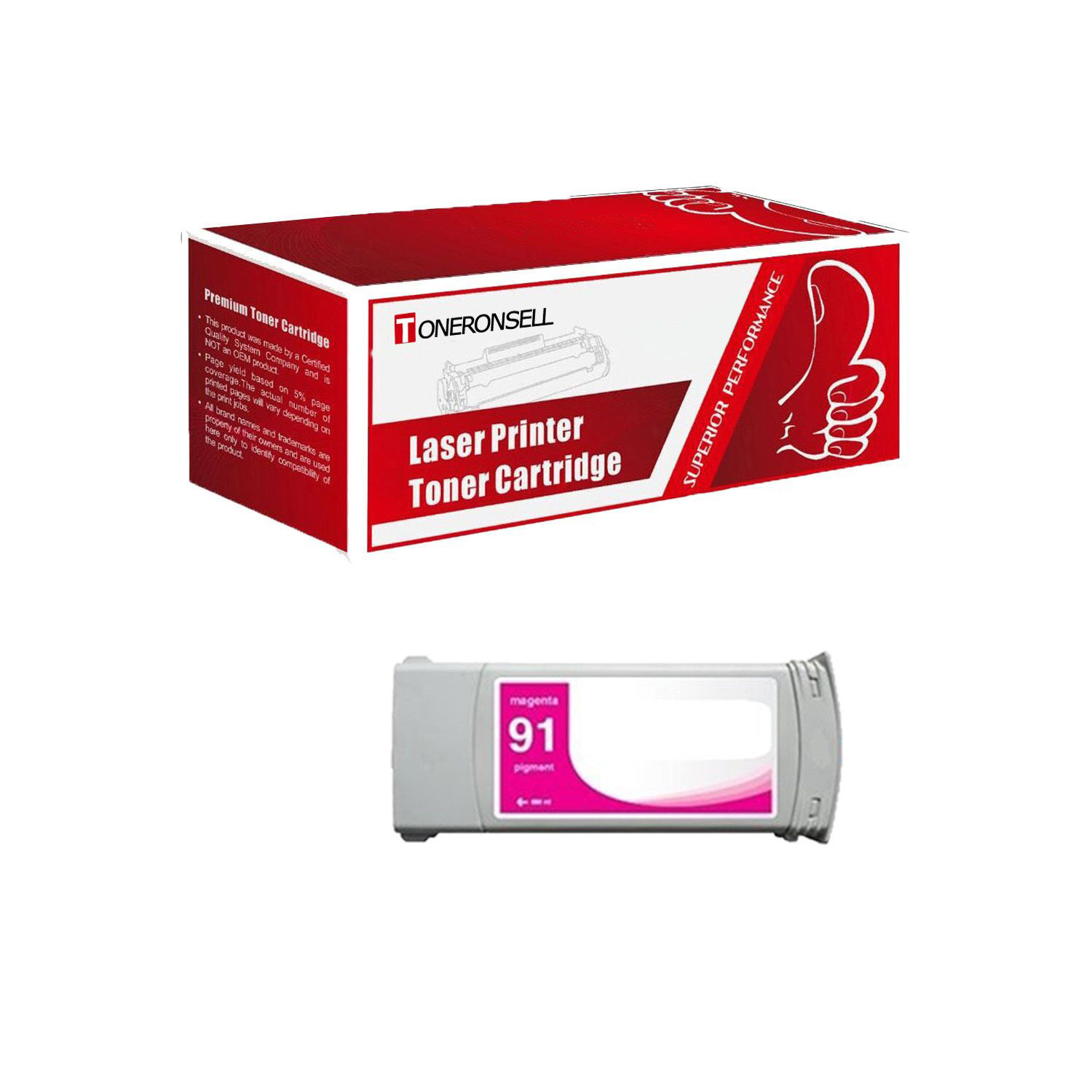 hp 91 Ink Cartridge for HP C9471A Light Magenta Z6100 Z6100ps