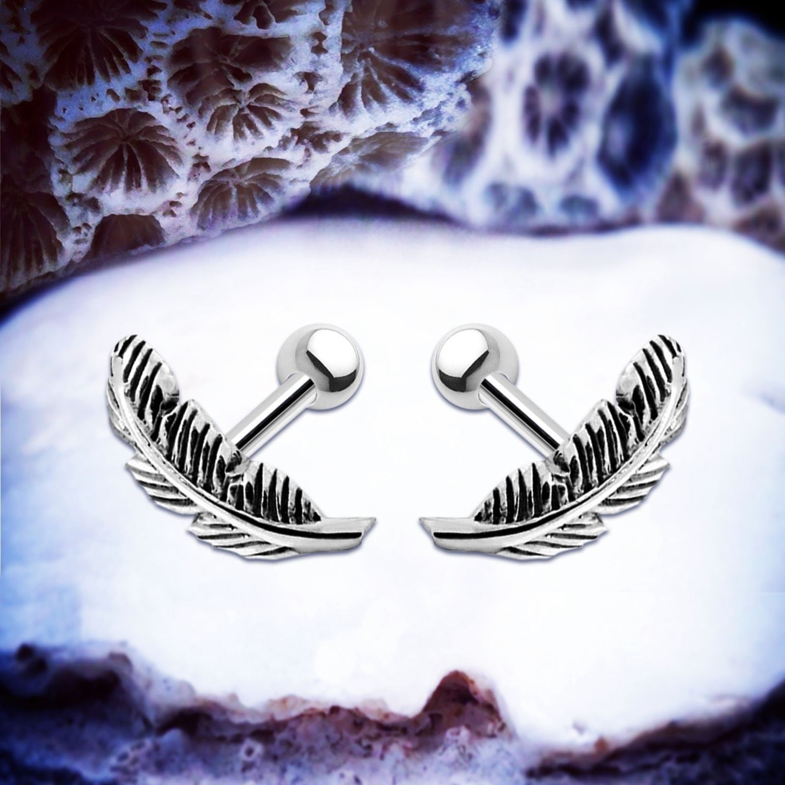 5cc45eab8f199 Details about Pocahontas | Silver Helix Earring Feather Cartilage Piercing  Boho Ear Stud Conch