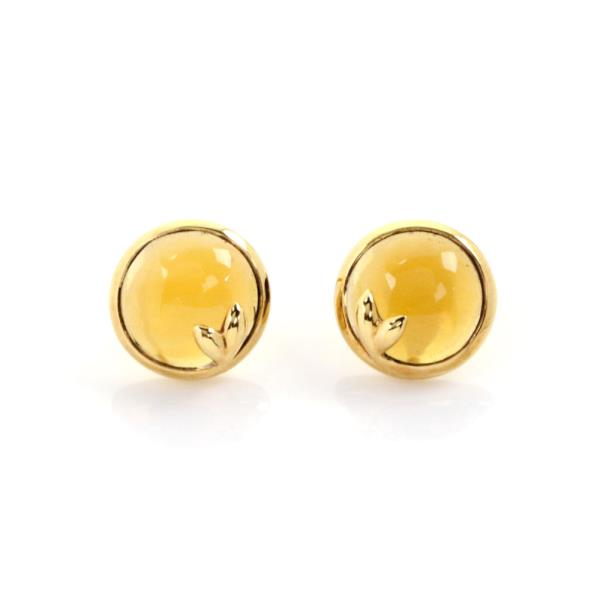 7def148667a1c Details about Tiffany & Co. Picasso Olive Leaf Citrine 18k Yellow Gold Stud  Earrings