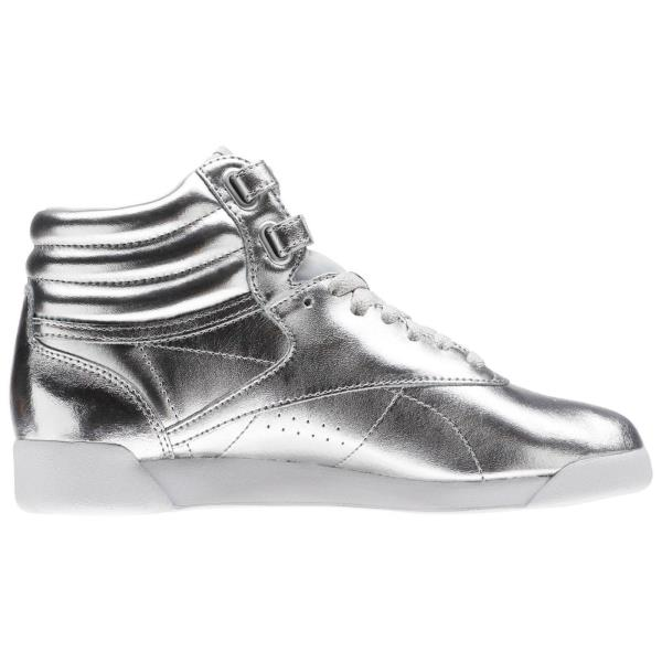 549a045c118eb ... Reebok Classics Freestyle F S HI Metallic Sneaker - Silver. Style   BS9944 Color  Silver Met Steel White Gender  Womens