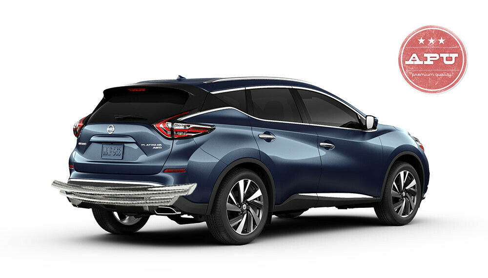 APU fits 15-19 Nissan Murano Stainless Double layer Rear Bumper Guard