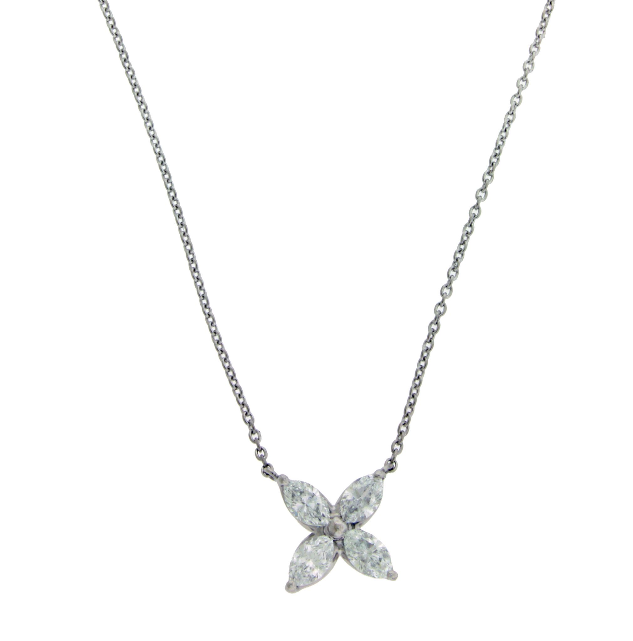 kite halo step platinum in necklace diamond tw cut