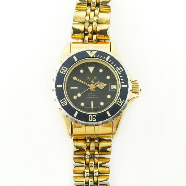 outlet store 42ee3 24be2 Details about WOLF OF WALL STREET HEUER 1000 18K GOLD PLATED 980.017 LADIES  WATCH FOR REPAIRS