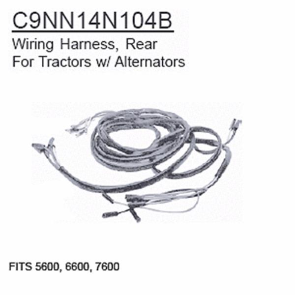 Details about C9NN14N104B Ford Tractor Wiring Harness Rear 5600, 6600, on