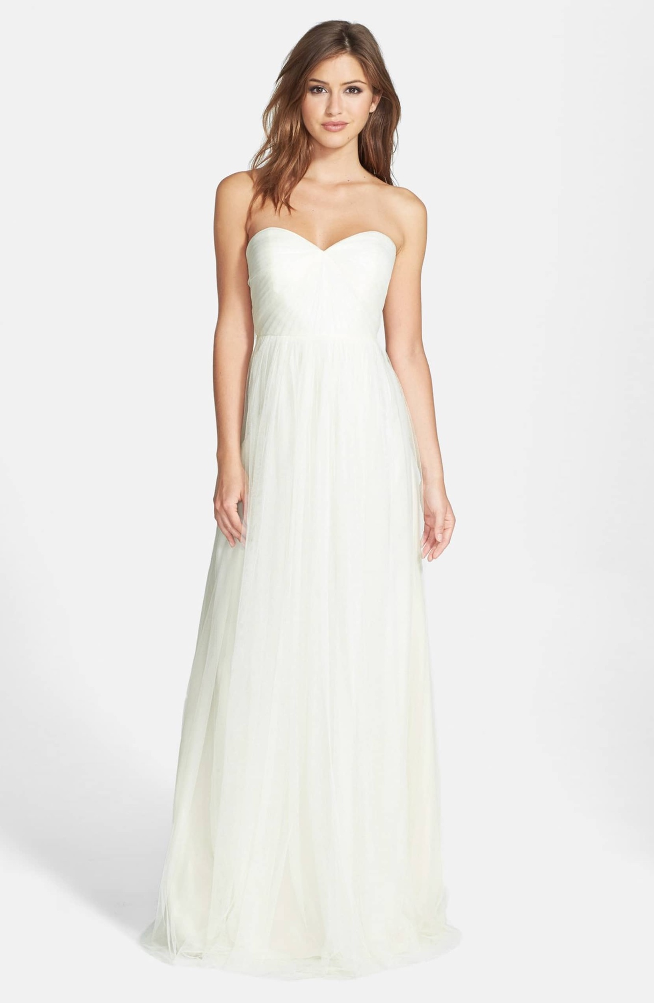 86638e5c8f9 Details about Jenny Yoo Annabelle Convertible Tulle Column Gown Dress SZ 6  ( 260) Cream