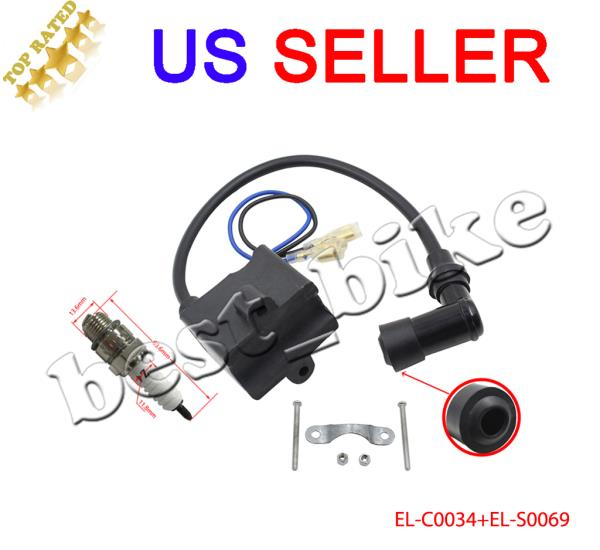 Details about CDI Ignition Coil Spark Plug Magneto 50cc 66cc 80cc Engine  Motorized Bike
