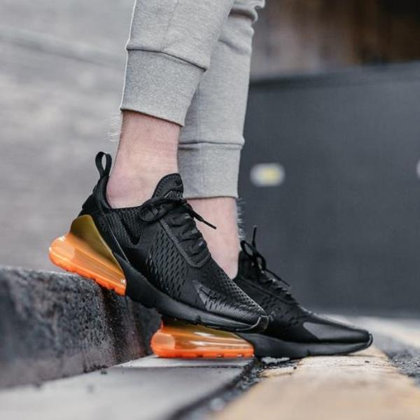 new arrival 586c0 d54df Details about Nike Air Max 270 Sneakers Black Size 7-12 Mens No Jordan  Presto Huarache