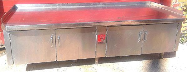 Details About WOLF VIKING COMMERCIAL KITCHEN CABINET COUNTER PREP TABLE 78Wx34Dx25H FREE SHIP