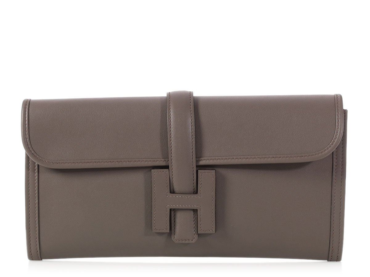 2932eafdf980 New HERMES 2016 Etain Swift Jige Elan 29 Bag ~ A clutch to carry with  anything!