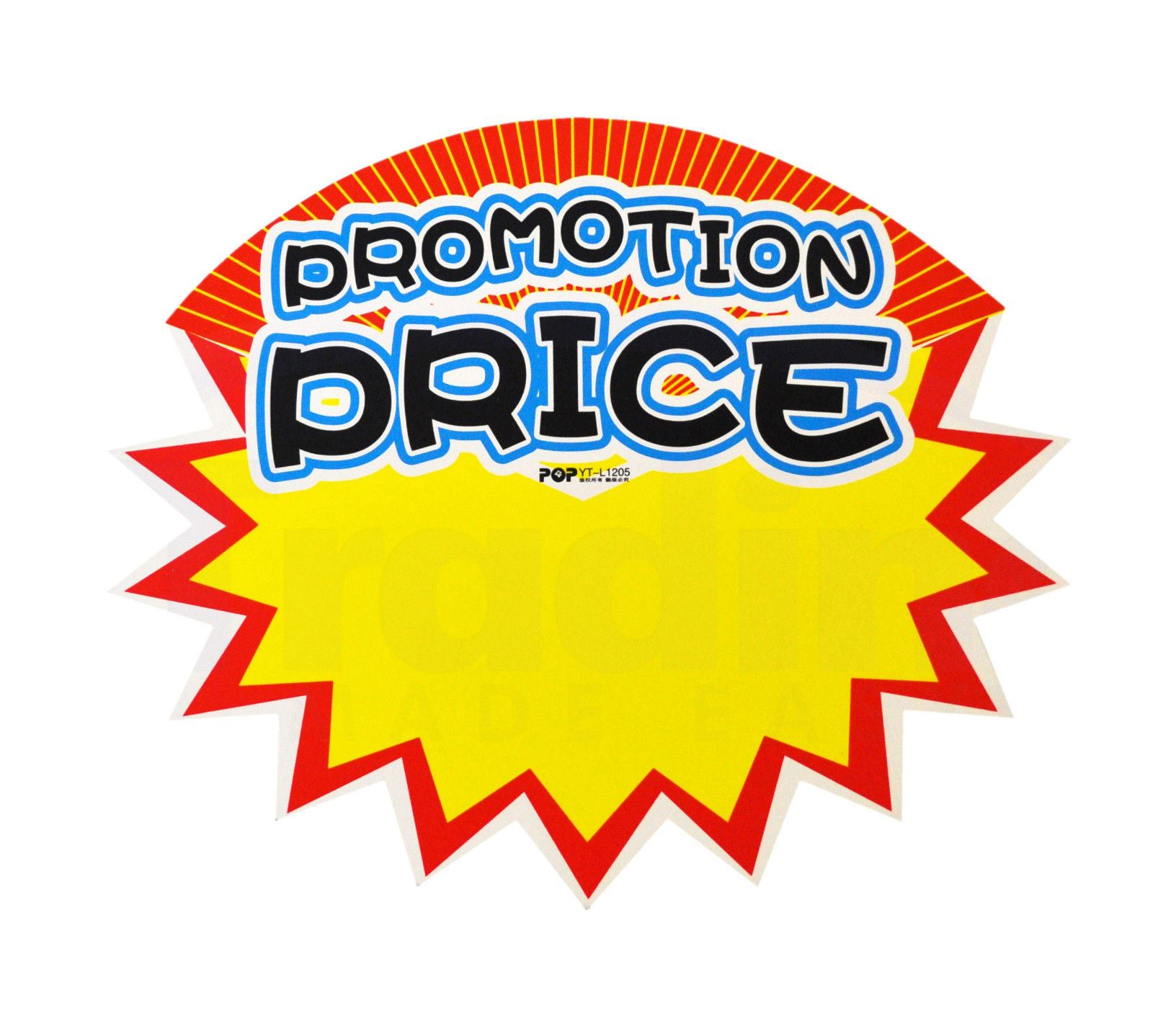 1ec8b2991ba8c Details about Pack of 10 Retail Shop Promo Signs Promotion Price Sale Price  Tag L1205