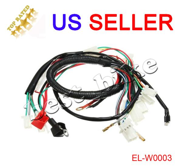 Electric Engine Start Wiring Harness Loom Pit Bike ATV Quad 50 70 90 110 125cc