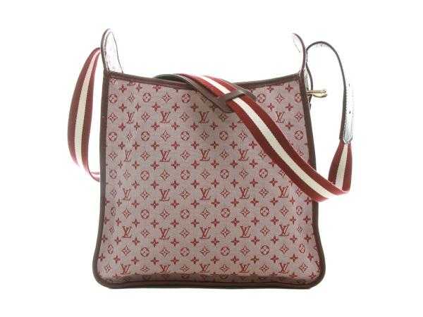c0476331a477 Authentic Louis Vuitton Cerise Monogram Mini Lin Canvas Besace Mary ...