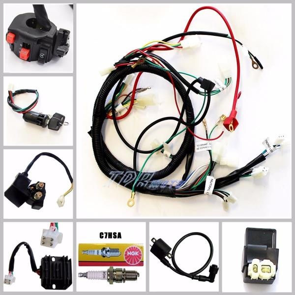 go go battery wiring harness buggy wiring harness loom gy6 150cc chinese electric start ... trailer battery wiring harness