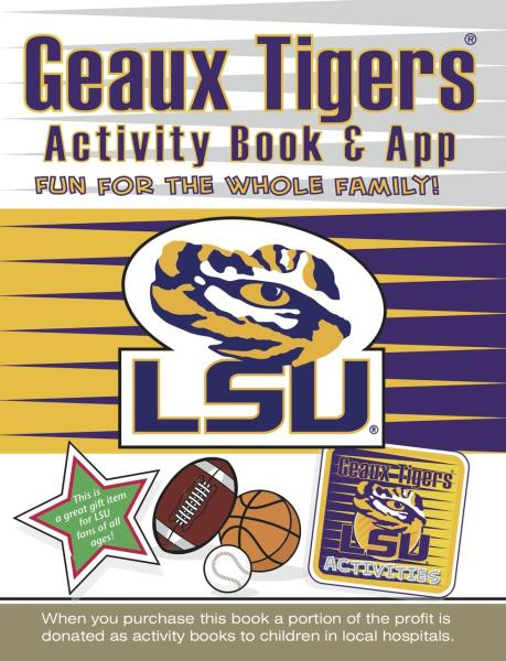 Details about LSU Tigers Kids Sports Activity Book Coloring Stickers  Puzzles Games Trivia