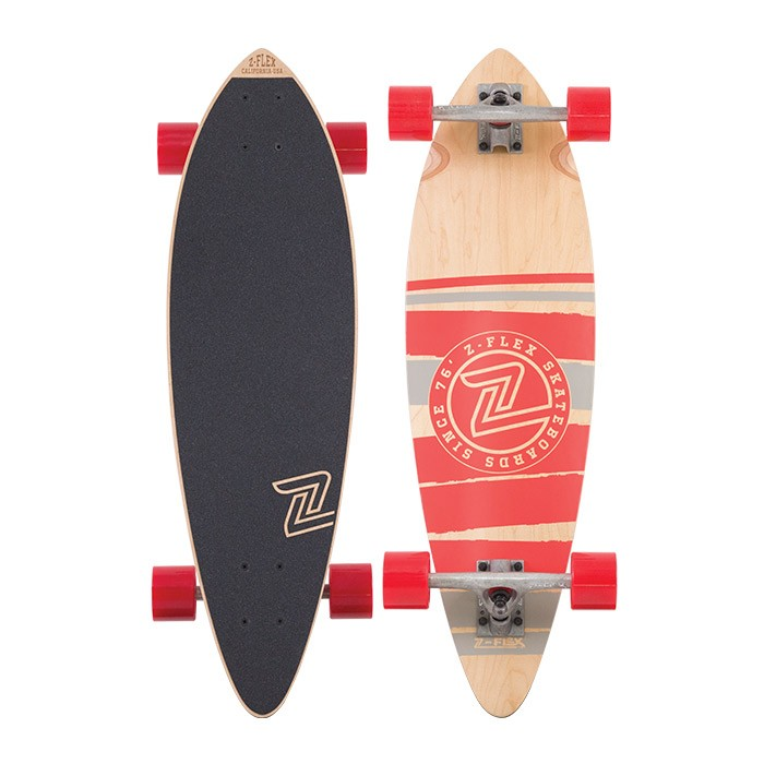 Z-Flex Skateboard Complete Mini Pintail Red 32 Longboard Zflex FREE POST