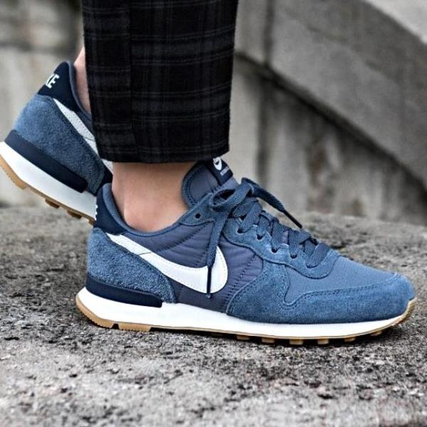 742ea08cb1c Nike Internationalist Sneakers Diffused Blue Size 6 7 8 9 Womens Shoes New