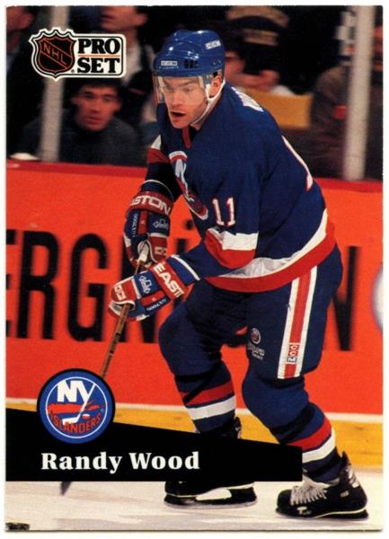 online store c69a6 8428e Details about Randy Wood #151 New York Islanders Pro Set 1991-2 Ice Hockey  Card (C414B)