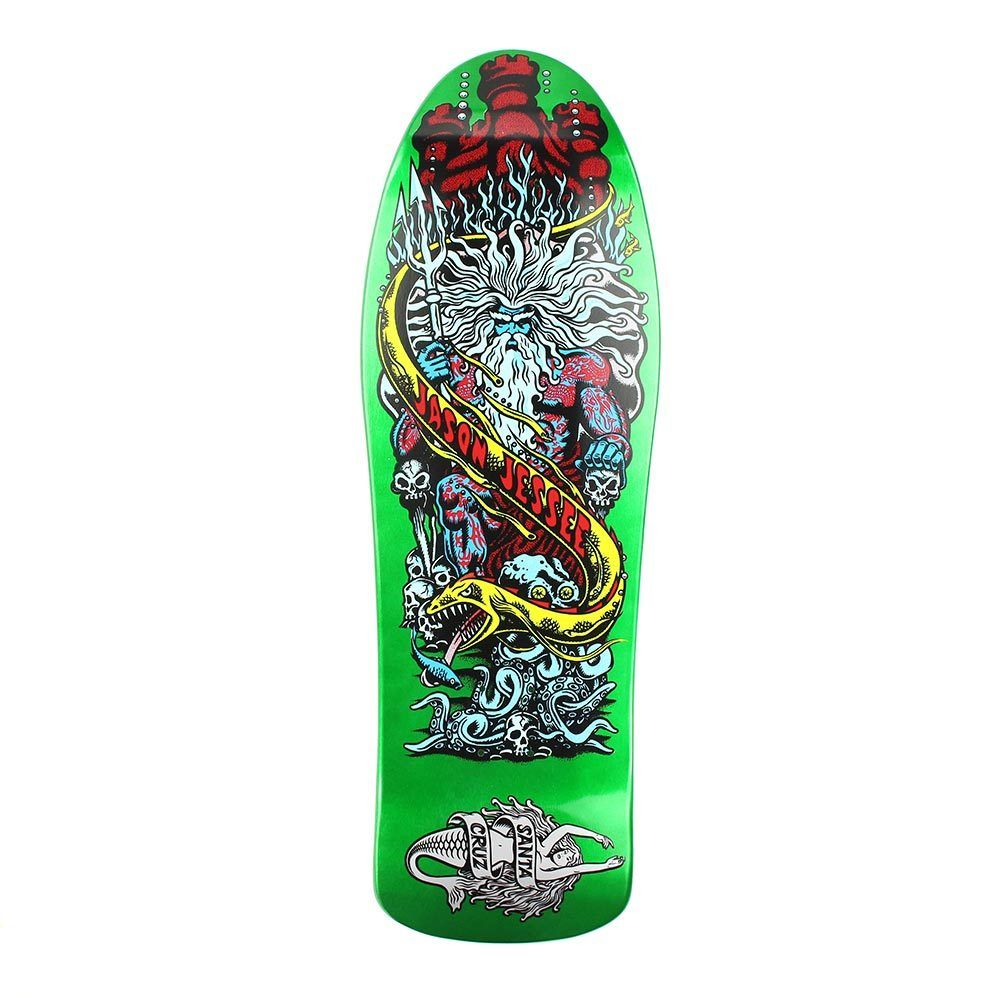 Santa Cruz Skateboards Deck Jason Jessee Neptune II 10.2 Green Reissue 2 FREE POST NEW