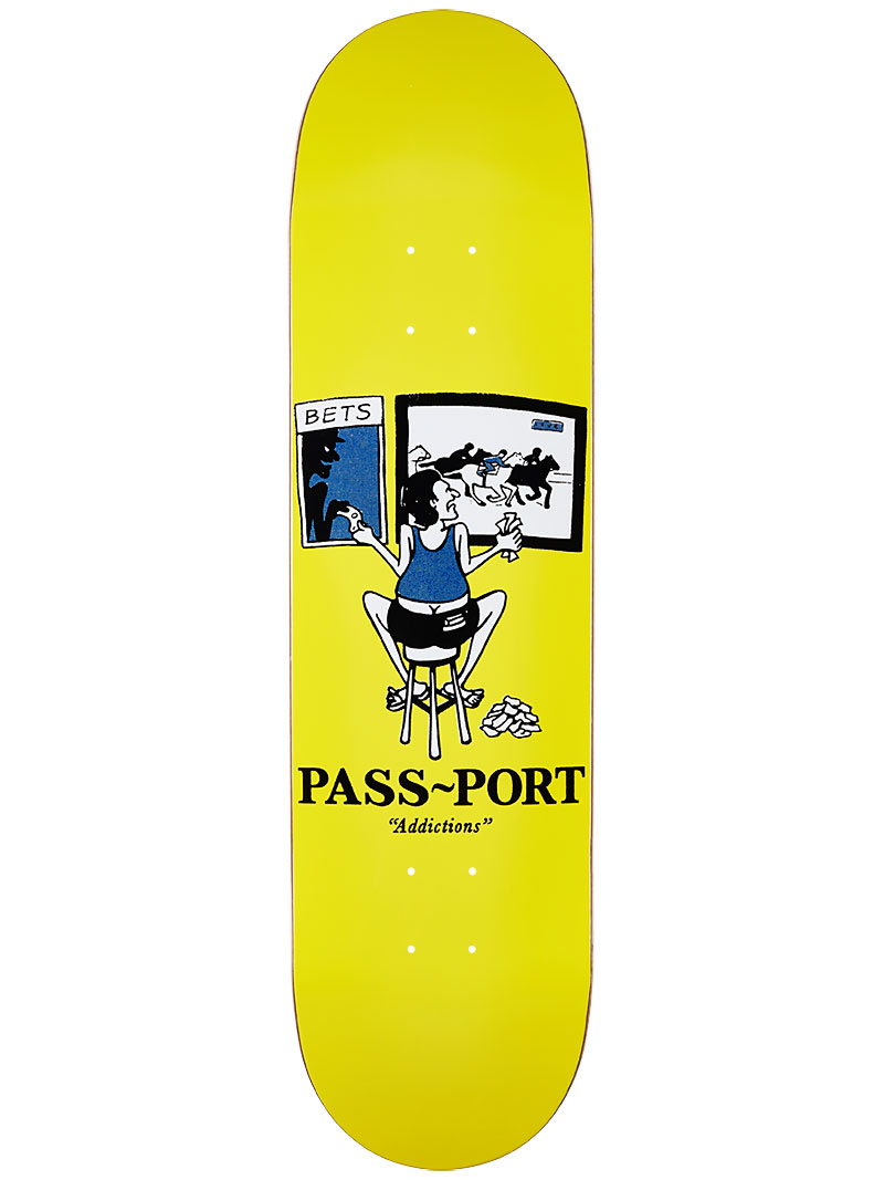 Pass Port Skateboard Deck Addictions Gamble 8 Drinks & Mixers FREE GRIP Passport