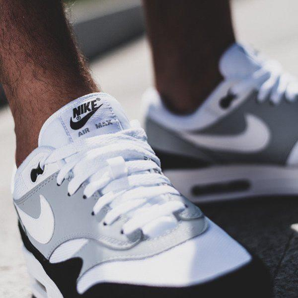 88672b13c9c70 Nike Air Max 1 Sneakers Wolf Grey Size 8 9 10 11 12 Mens Shoes New ...