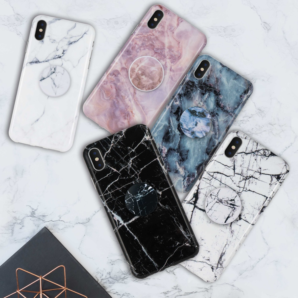 finest selection b4c1e a923e Details about For iPhone X XR XS Max 8 7 Plus Marble Pattern Soft  Shockproof Back Case Cover