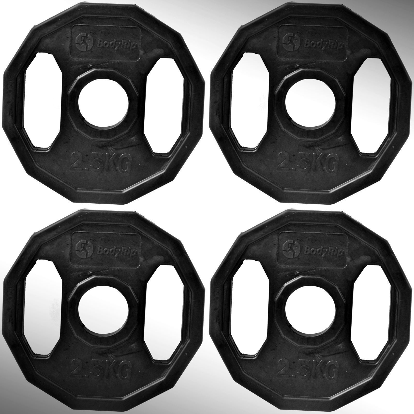 Olympic Rubber Coated Polygonal Hex Weight Disc Plates Gym Fitness Train