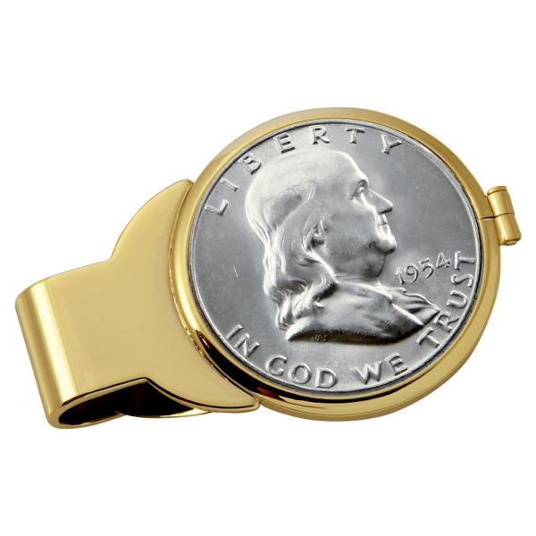NEW Year to Remember Goldtone Half Dollar Coin Money Clip 1939