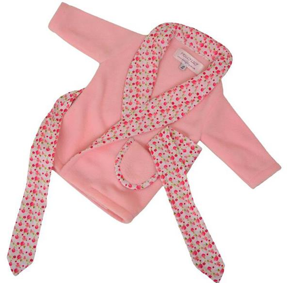 FRILLY LILY DRESSING GOWN WITH PINK FLOWER TRIM 46 CM STANDARD BABY ...