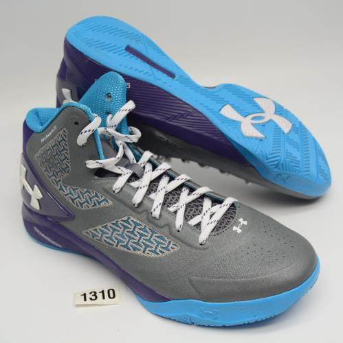 lowest price 87307 efc4f Details about UNDER ARMOUR CLUTCHFIT DRIVE 2 Mens 11 Gray Purple Basketball  Shoes 1258143-042
